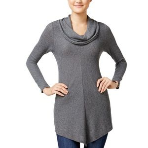 BCX NWT Women's Cowl Neck Pull Over Soft Sweater L